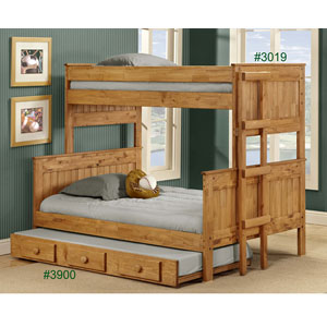 Solid Wood Twin/Full Stackable Bunk Bed 3019(PC)