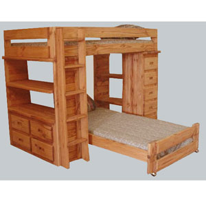 Twin/Twin Bookcase Loft Bed Collection 3070(PC)