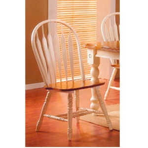 Arrow Back Chair In Buttermilk U0026 Oak Finish 3527 (ML)