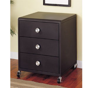 Z-Bedroom Mobile 3-Drawer Chest 354-303 (PW)