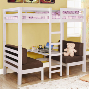 Solid Wood Convertible Twin Loft Bunk Bed 4602_3(CO)
