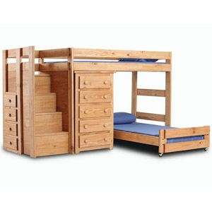 Solid Wood Twin Size Loft Bed 39417_(PC)