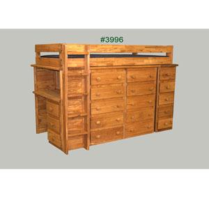 Twin Dresser Loft Bed 3996(PC)