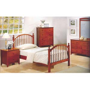 Youth Bed In Dirty Oak Finish 400071_(CO)
