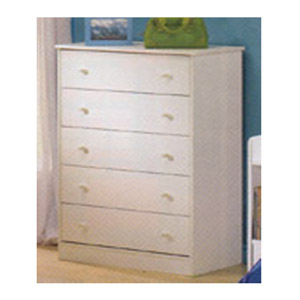 5-Drawer White Chest 400096 (CO)