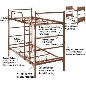 Institutional Bunk Bed Demountable Metal Bunk Bed 4000 Abm