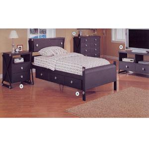 Black Matted Finish Bedroom Set