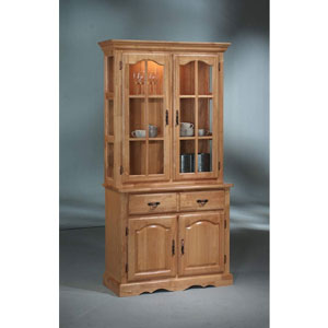 Solid Wood Hutch Buffet W Lighting 401bh Sb