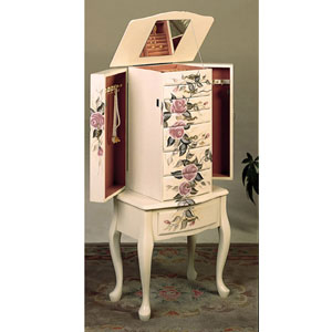 Jewelry Armoire In Off White 4021(CO)