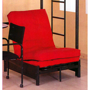 Tri Fold Black Futon Chair 4029 (MLFS)