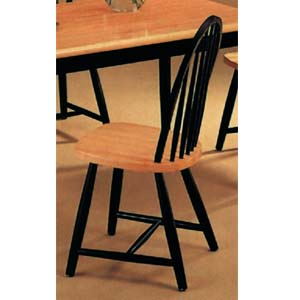 Side Chair In Natural/Black Finish 4130 (CO)