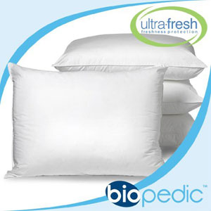 BioPEDIC UltraFresh Anti-bacterial 4-Pack Bed Pillows 38680(