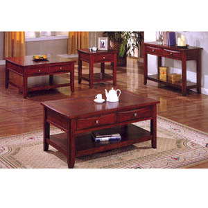 Coffee Table Dark Cherry Finish Coffee Table Cm4265c L