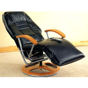 Black Top Grain Leather Match Massage Recliner 4410 (CO)