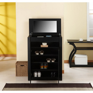 Shoe Cabinet/ Multi-Purpose Chest with Mirror 14338163(OFS24