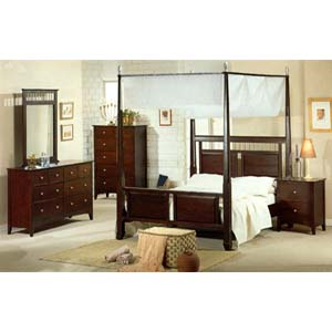 5-Piece Bedroom Set In Capuccino Finish 4485_ (CO)