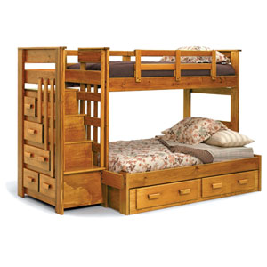Bunk Beds Escalade Solid Wood Twin Bunk Bed 4500 Ml