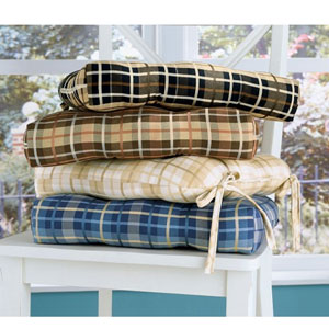 Beau Holbrook Plaid Chair Cushion 4554_(GHF)