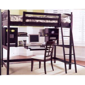 Twin Size Work Station Loft Bed 4600_(CO)