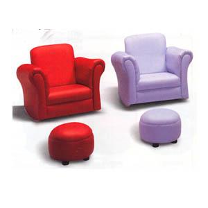 Leather Like Kid Chair w/Ottoman 4600_5 (CO)