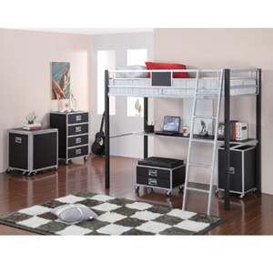 Twin Metal Loft Bed With Desk 460281(COFS)