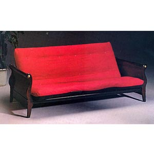 Cherry Finish Sleigh Bed Futon Frame 4804 (CO)