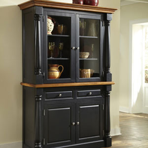 Monarch Black Buffet and Hutch 5008-617(OFS)