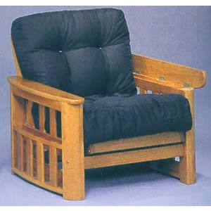Honey Oak Finish Futon Chair 5092 (WD)