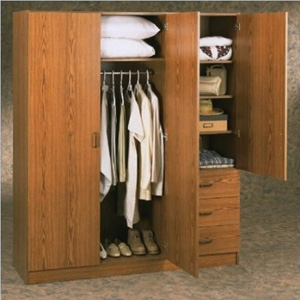 Closets Wardrobe Ameriwood 3 Door 3 Drawer Wardrobe 9129