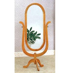 Floor Mirrors: Single Pedestal Solid Oak Cheval Mirror 5262 CO ...