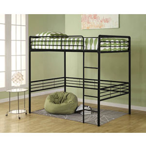 Dorel Full Size Metal Loft Bed 5472_(WFS219)