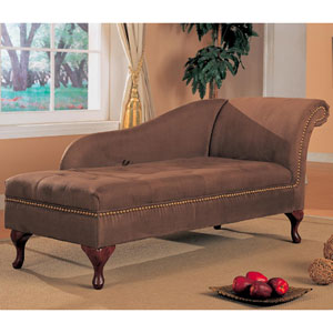 Chaise lounger chocolate brown chaise lounger 550068 co for Brown microfiber chaise lounger