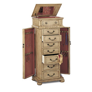 Jewelry Armoire Jewelry Armoire in Antique White 5557 CO