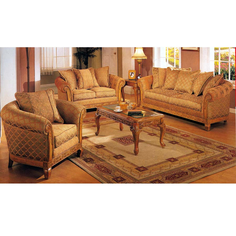 Living room sets provencial collection living room group for Living room group sets