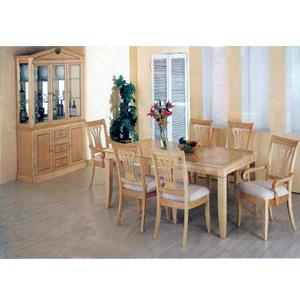 7-Pc Corinth Style Maple Veneer Dinete Set 5881-82 (CO)