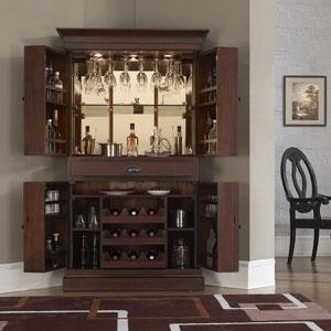 Corner Bar American Heritage Francesca Bar Cabinet