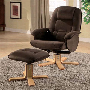 Swivel Chair With Ottoman 600142 (CO)
