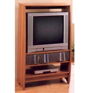 Maple Finish Entertainment Center With CD Rack 6007 (CO)