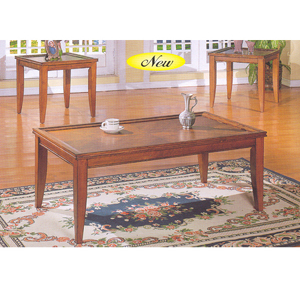 Coffee Table 3 Pc Cherry Coffee End Table Set 6167 A
