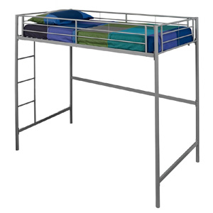 Silver Furniture Metal Loft Bunk Bed AZTOLSPSL(AZFS)