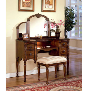 Ashton Vanity Set with Mirror And Stool 6540/6541 (A)