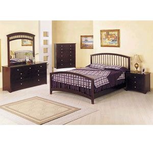 Fantasy Bedroom Set in Espresso Finish 6640 (A)