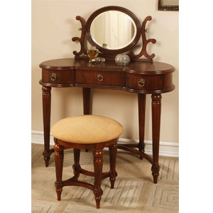 Antique Mahogany Vanity Set 670-290 (PWFS)