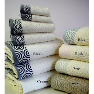 Jacquard Water Weaves Egyptian Cotton Towels 6-pc-cricles(RP