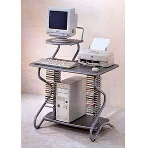 Brushed Silver Computer Desk 7128 (CO)