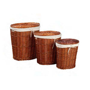 Oval 3pc. Willow Laundry Hamper Set 745_(KDY)