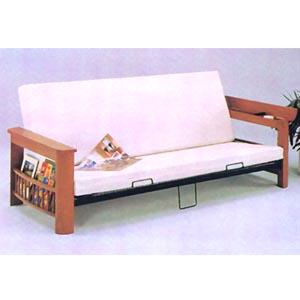 Wooden Futon sofa w/Magazine Rack 7524 (A)