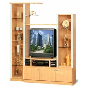 Beech Finish Entertainment Center 7580 (CO)