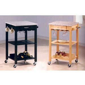 Wine Cart With Granite Top 76_ (CO)