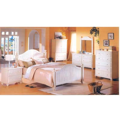 Bermuda White Finish BedRoom Set 8150Q(ML)